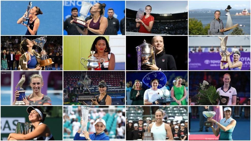 Las 16 campeonas de la WTA en 2019