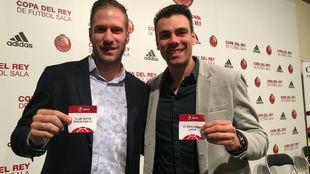 Solano y Lozano, con las papeletas tras el sorteo