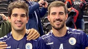 Pablo y Sebastián Simonet, tras un partido con la selección...