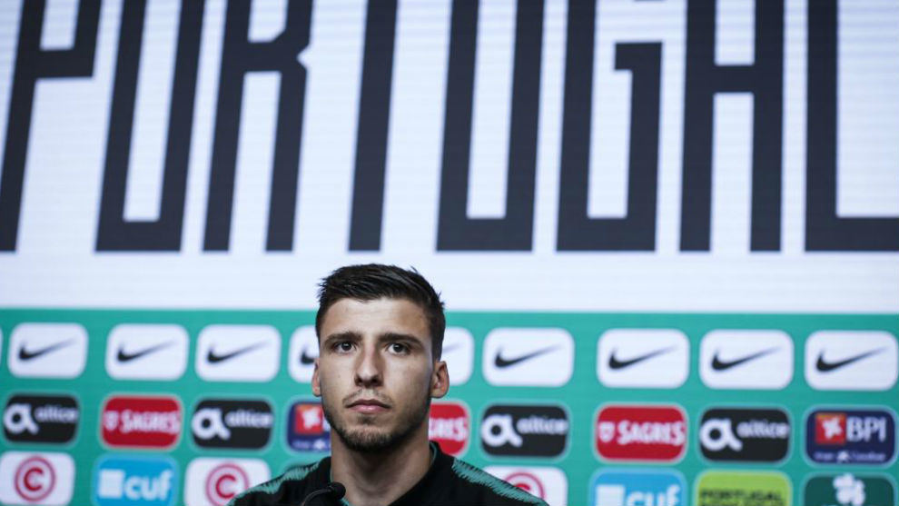 Ruben Dias in a press conference with the Portuguese national team.