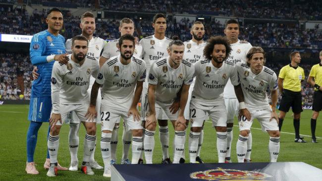 El once del Madrid ante la Roma el pasado mes de septiembre.