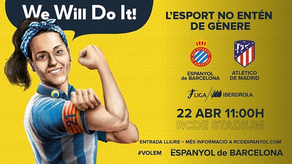 El cartel promocional del Espanyol de cara a este partido.