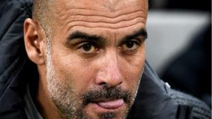 Guardiola, durante el partido contra el Tottenham