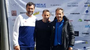Bruguera, con Nico y Jordi Arrese