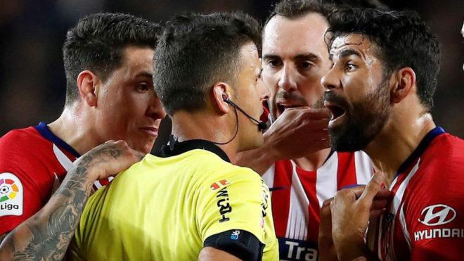 Diego Costa, Expulsión en Barcelona vs Atlético de Madrid | Gil Manzano