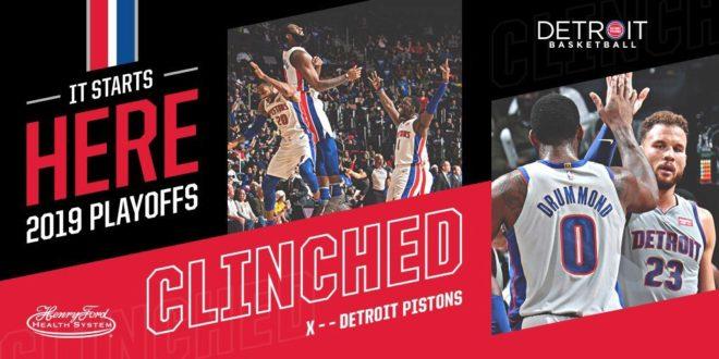 Pistons atrapa el último boleto a los Playoffs