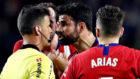 El delantero hispano-brasileño del Atlético de Madrid, Diego Costa,...