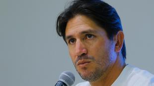 Bruno Marioni en una conferencia de prensa.
