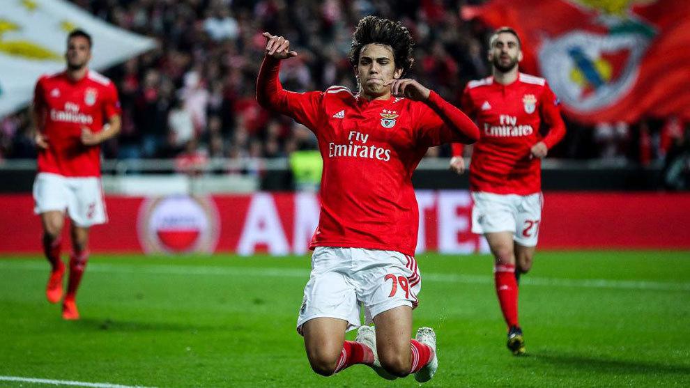 Joao Felix celebrating one of his goals.