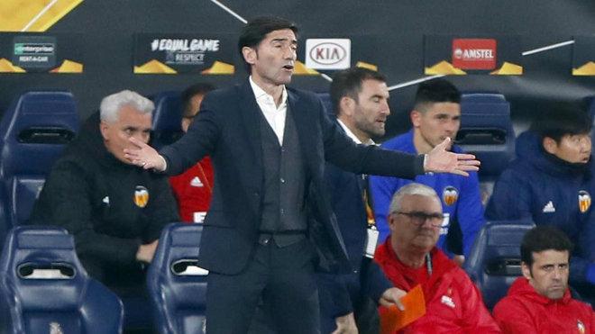 Marcelino, durante el partido ante el Valencia.