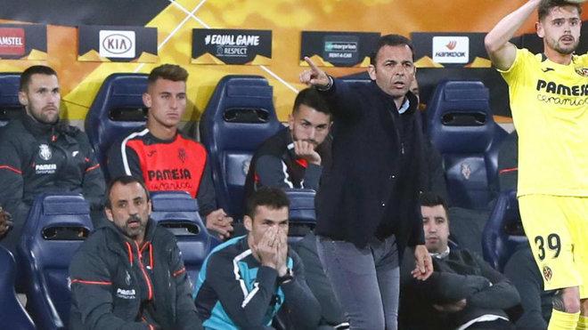 Calleja, durante el partido.