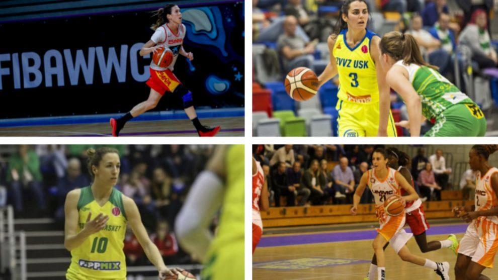 Las jugadoras de la selección española que se enfrentarán en la...