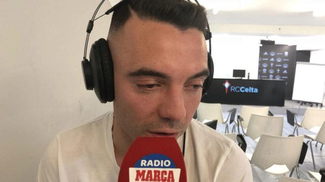 Iago Aspas en la entrevista concedida a Radio MARCA