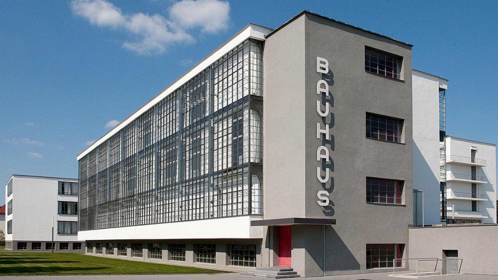 Sede de la escuela Bauhaus en Dessau.