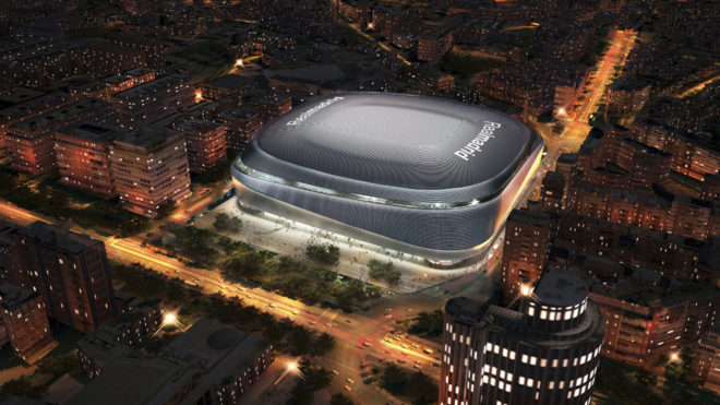 Image of the new Estadio Santiago Bernabéu