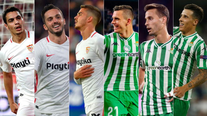Forwards from Sevilla and Betis
