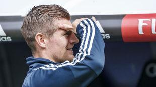 Toni Kroos, el pasado sábado en el Bernabéu.