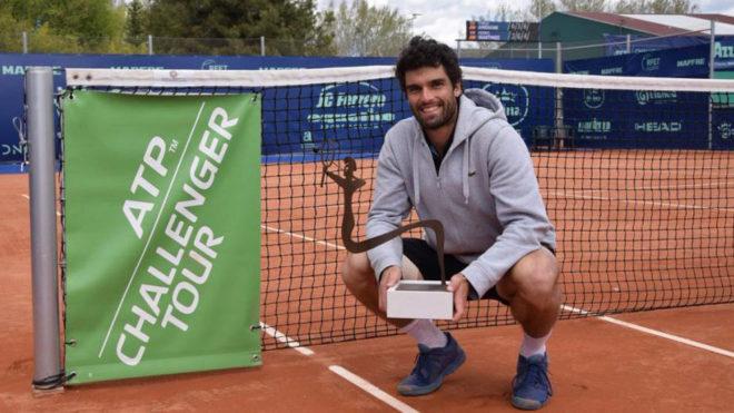 Pablo Andújar, tras ganar recientemente el Ferrero Challenger.