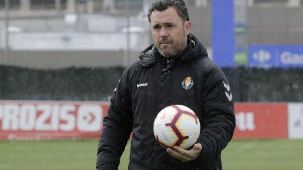 Sergio durante un entrenamiento.