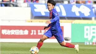 Take, en un partido con el Tokio FC.