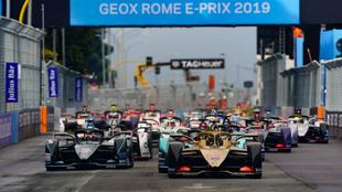 Lotterer, por delante de Evans, domina en el inicio del ePrix de Roma.