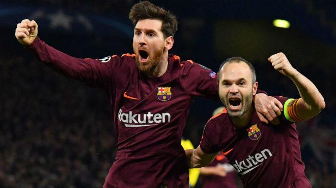 Leo Messi y Andrés Iniesta.