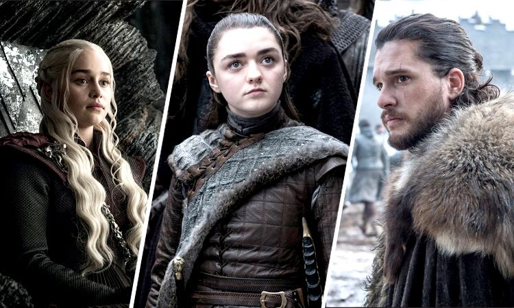 Daenerys Targaryen, Arya Stark y Jon Snow