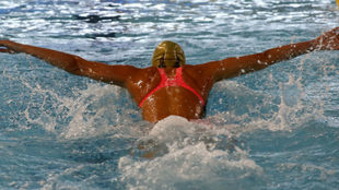 Mireia Belmonte, durante los recientes Campeonatos de España Open.