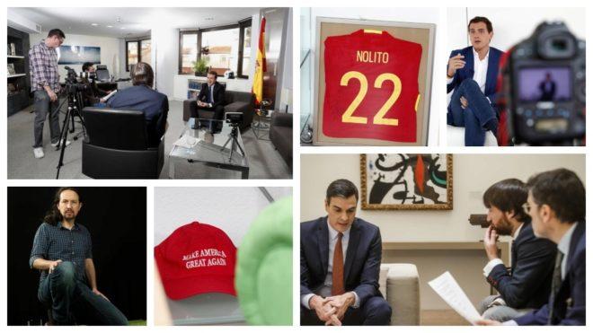La camiseta firmada por Nolito está en el despacho de Albert Rivera....
