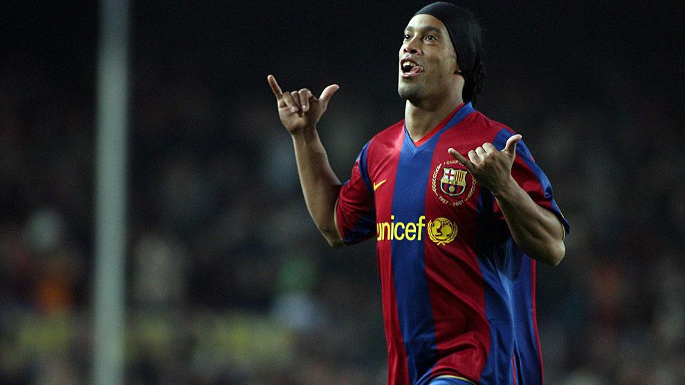 Ronaldinho en su época como jugador del FC Barcelona