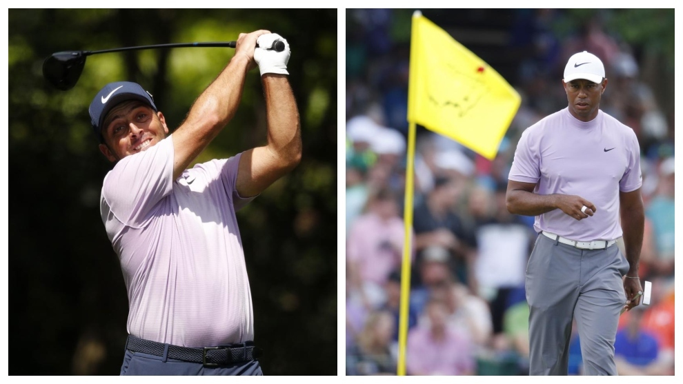 Francesco Molinari y Tiger Woods.