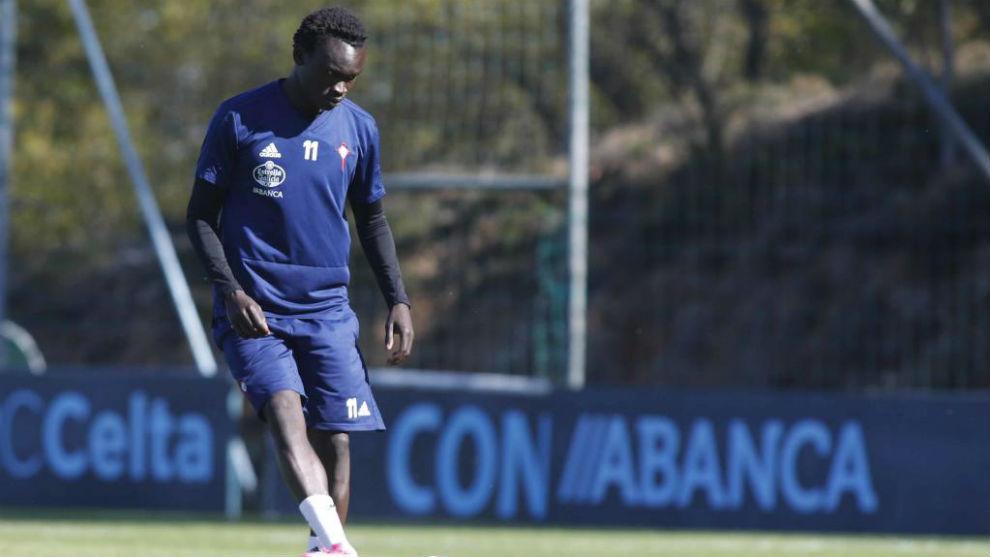 Pione Sisto during a training session at Celta Vigo.