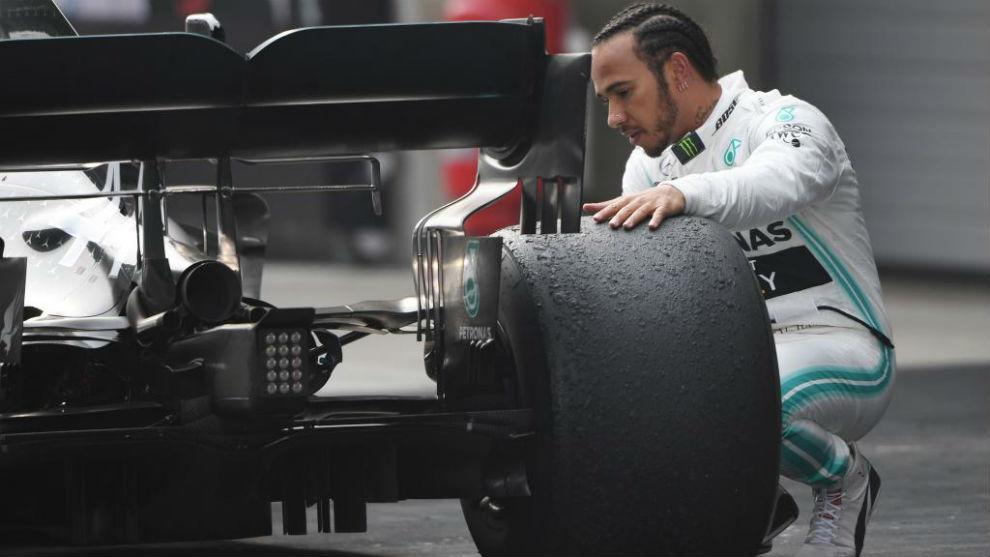 Hamilton, tras su victoria 75 en la F1.