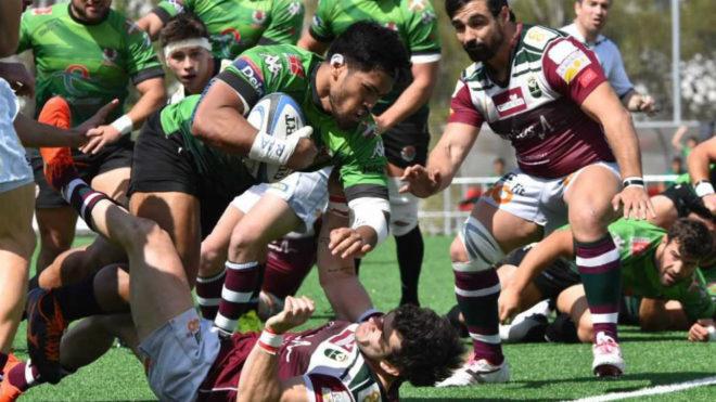 Una imagen del duelo entre Sanitas Alcobendas Rugby y Bizkaia Gernika.