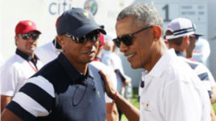 Tiger y Obama en la Presidents Cup de 2017.