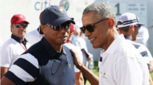 Tiger y Obama en la Presidents Cup de 2017.
