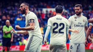 Karim Benzema ha marcado los últimos cuatro goles anotados por el...