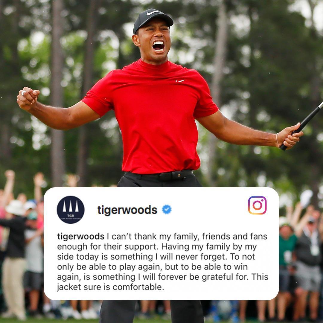 Las redes sociales entraron en ebullición tras el triunfo de Tiger...