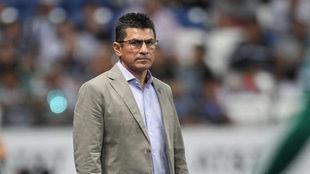 Duarte durante el partido de Santos y Monterrey.