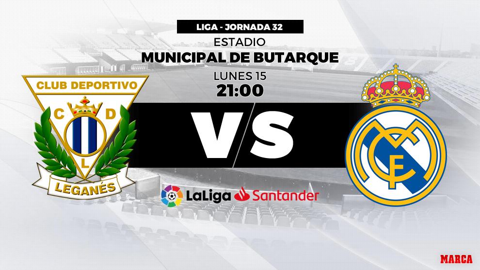 Leganés - Real Madrid: hora y dónde ver hoy en televisión