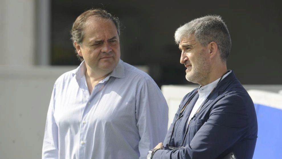 Jokin Aperribay ha estado esta mañana en Zubieta, junto a Roberto...