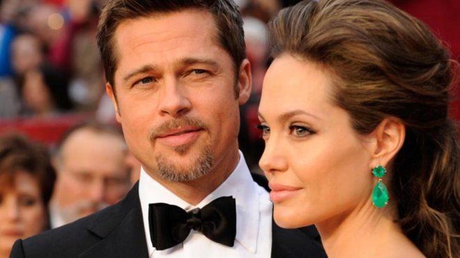 Angelina Jolie y Brad Pitt cuando todavía estaban casados.