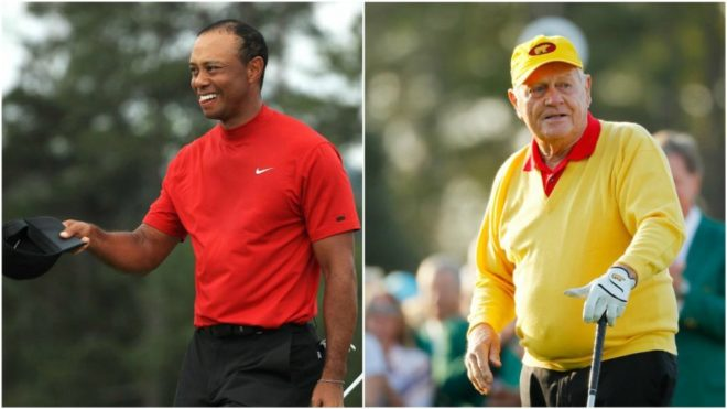Woods y Nicklaus.