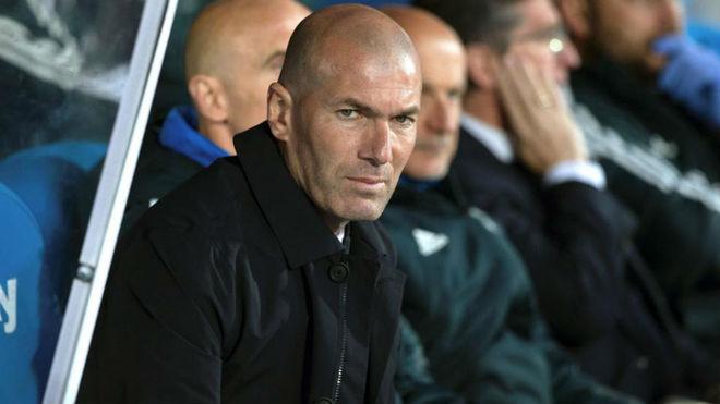 Zinedine Zidane during the game against Leganes
