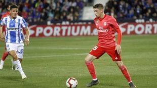 Valverde, durante el encuentro ante el Leganés.