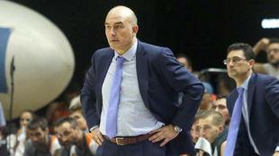 Jaume Ponsarnau, durante un encuentro del Valencia Basket.