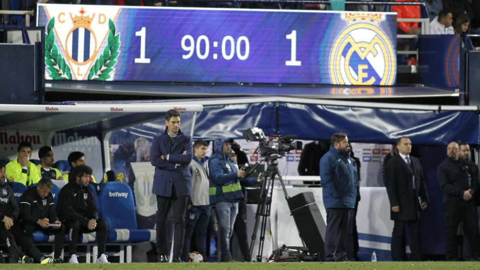 Pellegrino during the 1-1 draw with Real Madrid on Monday.