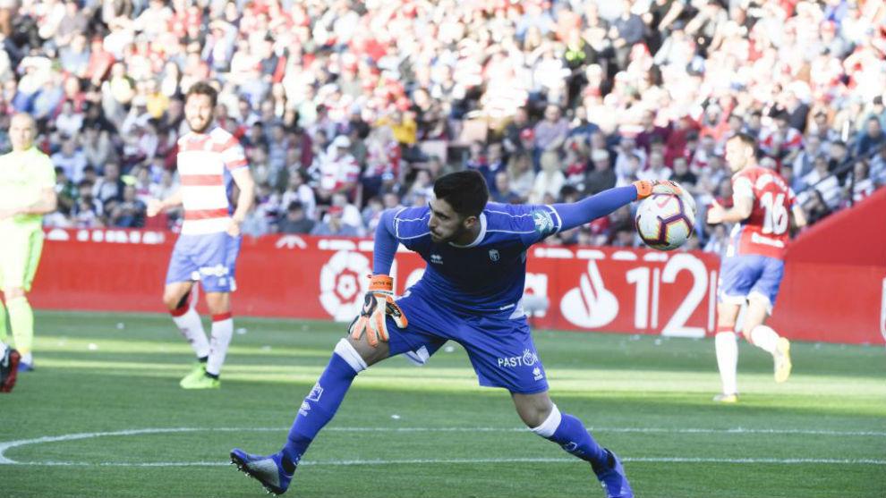 Rui Silva, durante un partido con el Granada