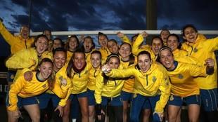 La plantilla del Femenino posa para MARCA en la Ciudad Deportiva antes...