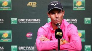 Rafa Nadal in a press conference.